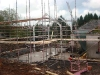 External Scaffold Erected Prior to Timber Frame Work Starting